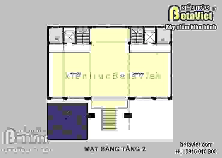 Mặt bằng tầng 2 mẫu thiết kế dinh thự Tân cổ điển 7 tầng đẹp hoành tráng (CĐT:Ông Bình - Hải Phòng) BT14425 bởi Công Ty CP Kiến Trúc và Xây Dựng Betaviet