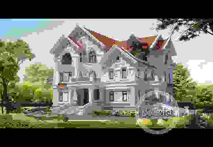Phối cảnh mẫu thiết kế lâu đài dinh thự đẹp 3 tầng (CĐT: Ông Khâm - Lào Cai) BT14390 bởi Công Ty CP Kiến Trúc và Xây Dựng Betaviet