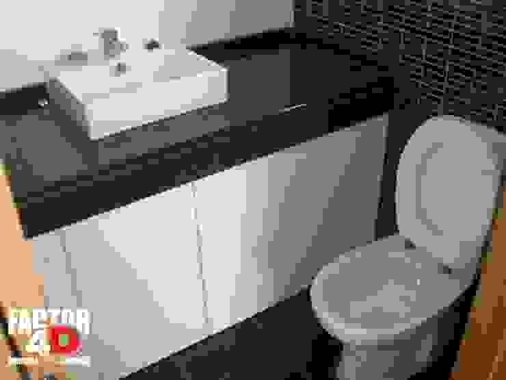 ห้องน้ำ โดย Factor4D - Arquitetura, Engenharia & Construção, โมเดิร์น