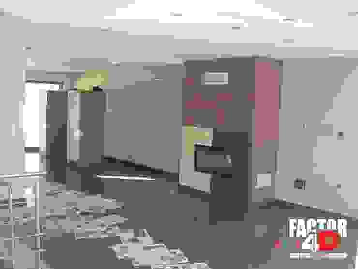 Factor4D - Arquitetura, Engenharia & Construção Ruang Keluarga Modern