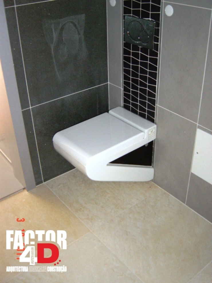Factor4D - Arquitetura, Engenharia & Construção Kamar Mandi Modern