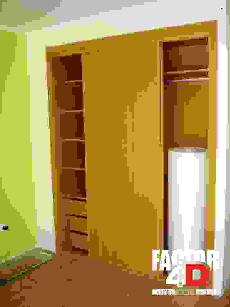 Factor4D - Arquitetura, Engenharia & Construção Ruang Ganti Modern