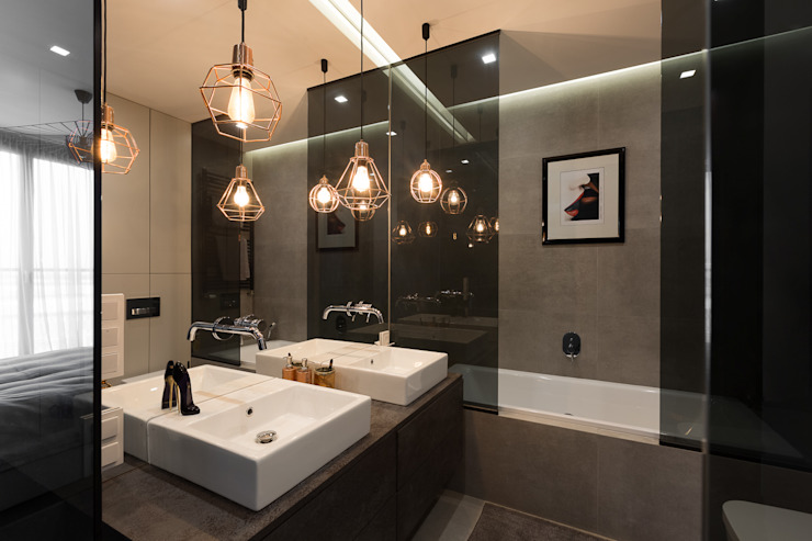 projekt wnętrza mieszkania Nowoczesna łazienka od Dmowska design Nowoczesny
