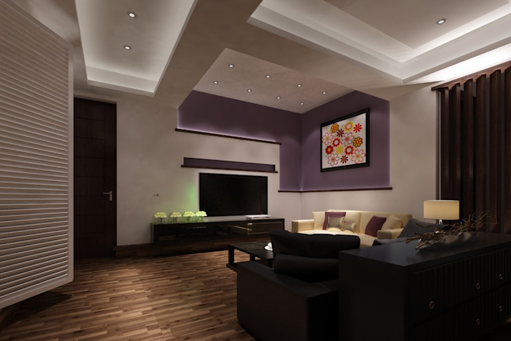 Living Area Modern Design Modern Walls and Floors by TK Designs Modern Solid Wood Multicolored