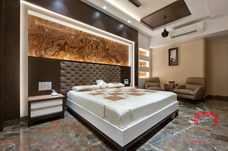 Juhu Residence Modern Bedroom by neale castelino Photography Modern