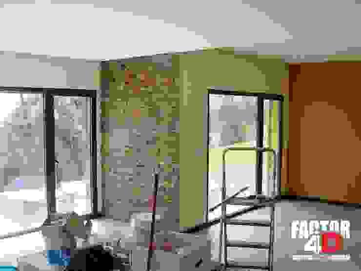 Salas modernas de Factor4D - Arquitetura, Engenharia & Construção Moderno