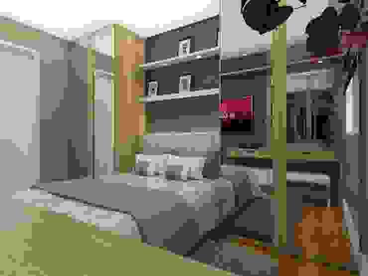 Phòng ngủ phong cách hiện đại bởi homify Hiện đại MDF
