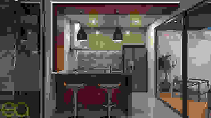 Interior Cocina: Cocinas de estilo  por Eutopia Arquitectura