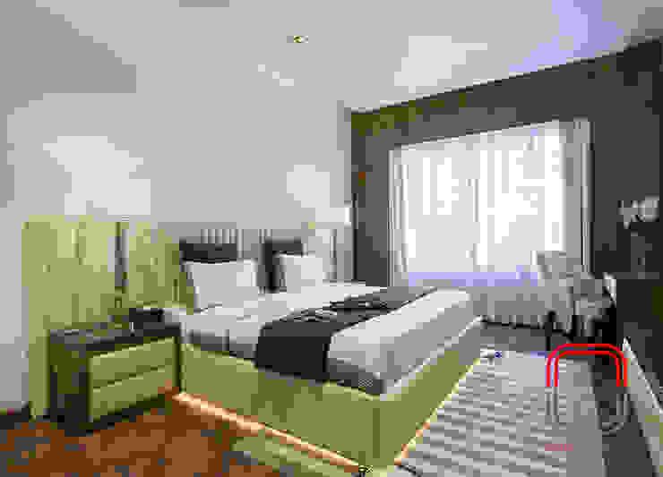 Sample Flat Modern Bedroom by neale castelino Photography Modern