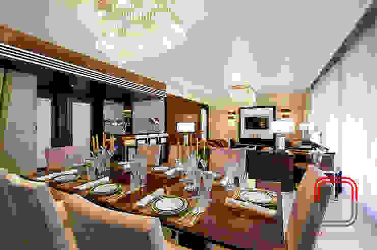 Sample flat Modern Dining Room by neale castelino Photography Modern