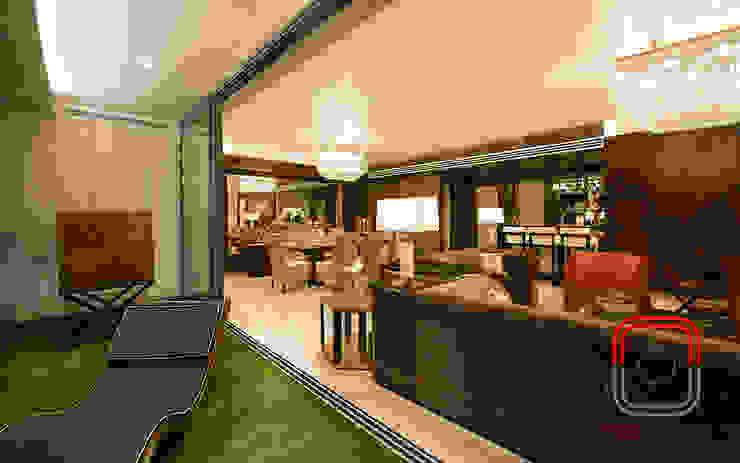 Sample Flat Modern Terrace by neale castelino Photography Modern