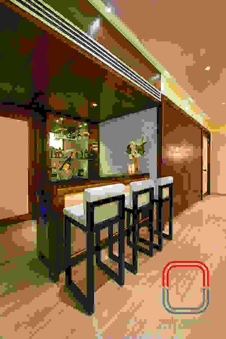 Sample Flat Modern Living Room by neale castelino Photography Modern