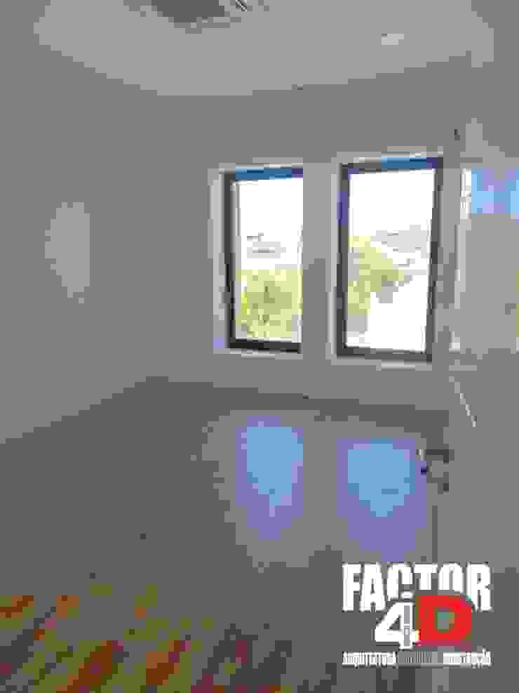 Factor4D - Arquitetura, Engenharia & Construção Ruang Studi/Kantor Modern