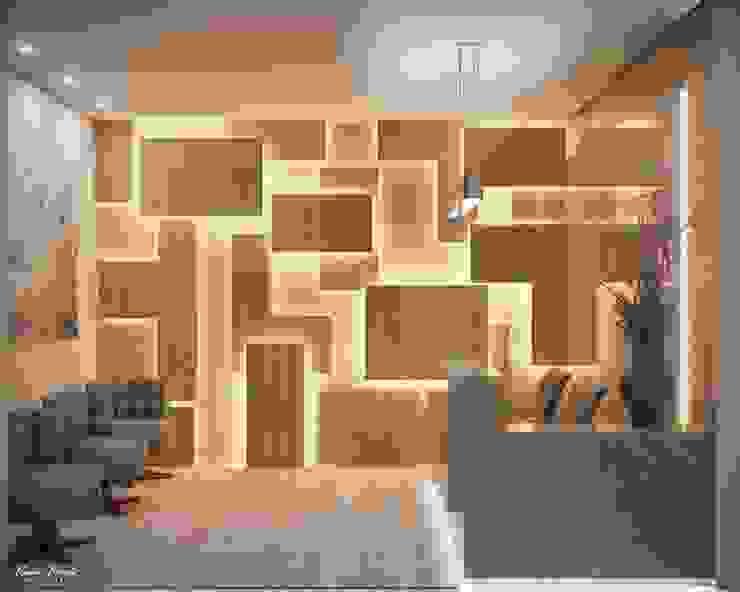 de Camila Pimenta   Arquitetura + Interiores Moderno Madera Acabado en madera