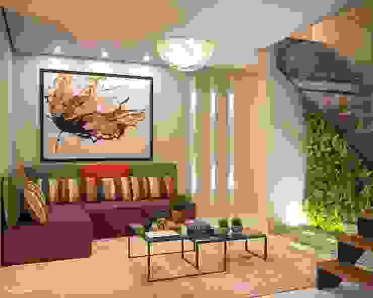 de Camila Pimenta   Arquitetura + Interiores Moderno Compuestos de madera y plástico