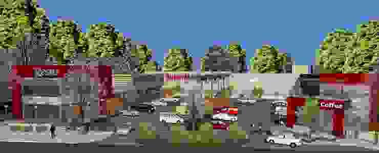 Vista aerea Galerías y espacios comerciales de estilo moderno de MOLEarquitectura Moderno Hormigón