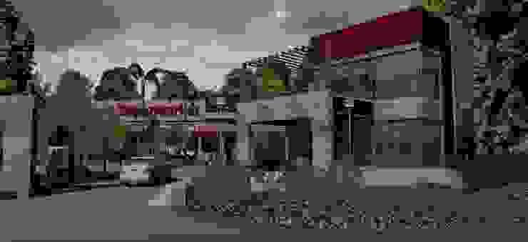 Vista confiteria Galerías y espacios comerciales de estilo moderno de MOLEarquitectura Moderno Ladrillos