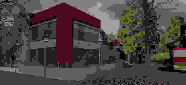 Detalle esquina resto. Galerías y espacios comerciales de estilo moderno de MOLEarquitectura Moderno Cuarzo