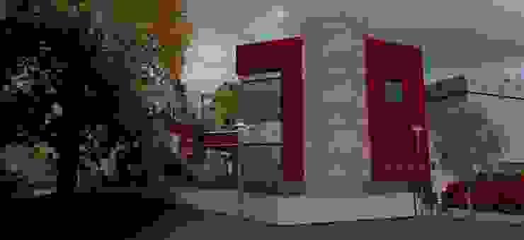 Vista confiteria Galerías y espacios comerciales de estilo moderno de MOLEarquitectura Moderno Cuarzo