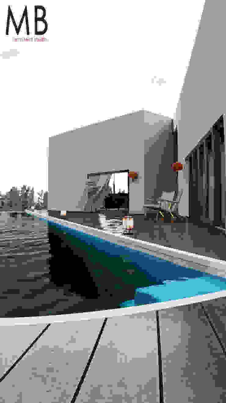 Pool House de MIB Studio Clásico Madera Acabado en madera