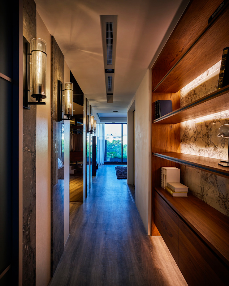 寶贏天地厚愛實品屋 現代風玄關、走廊與階梯 根據 澤序空間設計有限公司 現代風