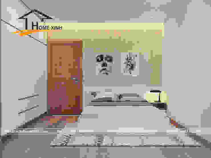 Thiết kế nội thất chung cư Golden West 96m2 nhà anh Hải Phòng ngủ phong cách hiện đại bởi THIẾT KẾ HOMEXINH Hiện đại