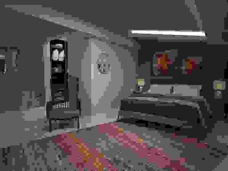 Ahsen - Murat Evi Akay İç Mimarlık & Tasarım Modern Yatak Odası Rengarenk