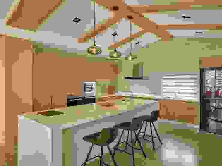 廚房 Minimalist kitchen by 澤序空間設計有限公司 Minimalist