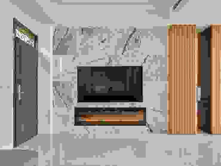 客廳電視牆 Minimalist living room by 澤序空間設計有限公司 Minimalist