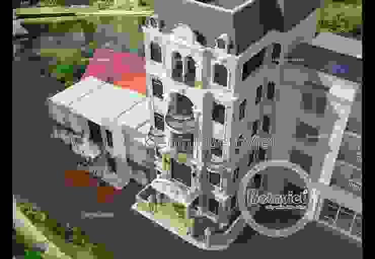 Phối cảnh mẫu thiết kế lâu đài - dinh thự đẹp 5 tầng Tân cổ điển (CĐT: Ông Vinh - Vĩnh Phúc) BT15054 bởi Công Ty CP Kiến Trúc và Xây Dựng Betaviet
