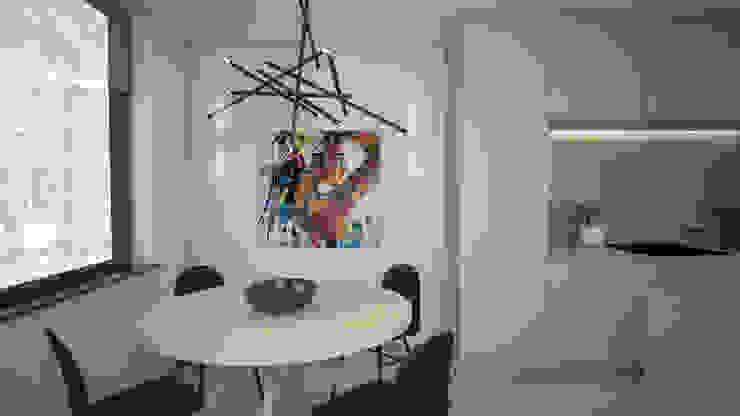 Woonhuis in Leiden. Klein huis, groots aangepakt. Minimalistische eetkamers van Studio-em Minimalistisch