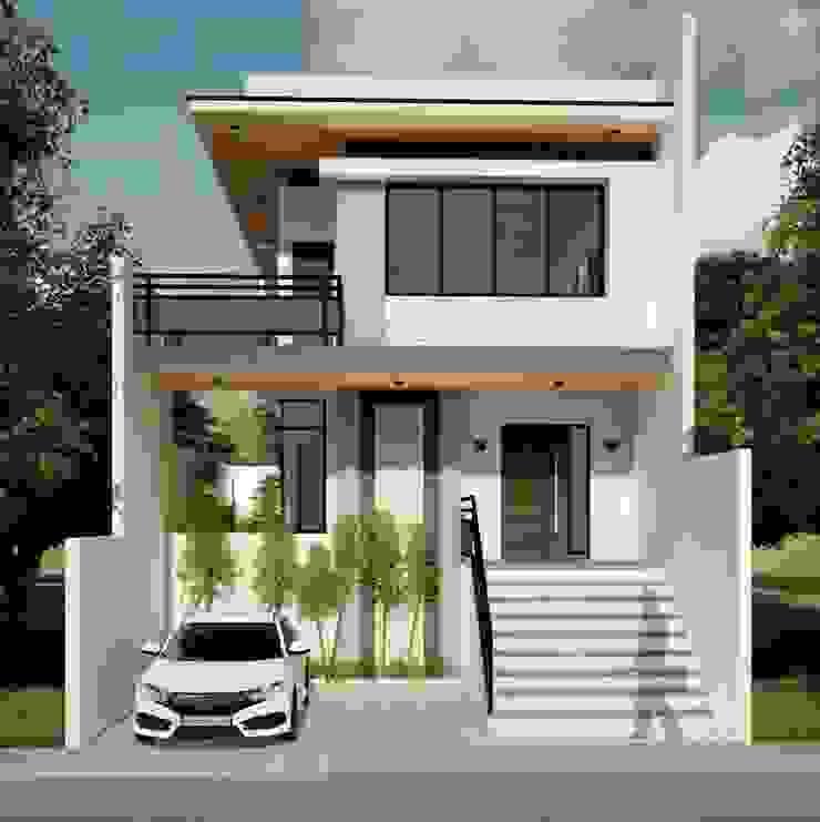 Proposed 2 Storey Zen Type Residence Minimalist house by Yaoto Design Studio Minimalist