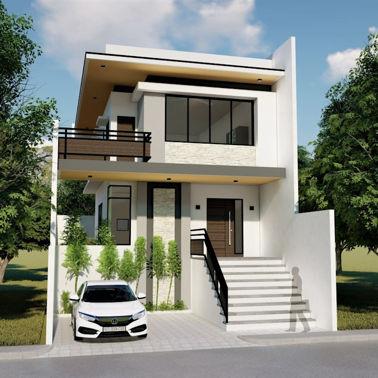 Proposed 2 Storey Zen Type Residence Minimalist house by Yaoto Design Studio Minimalist