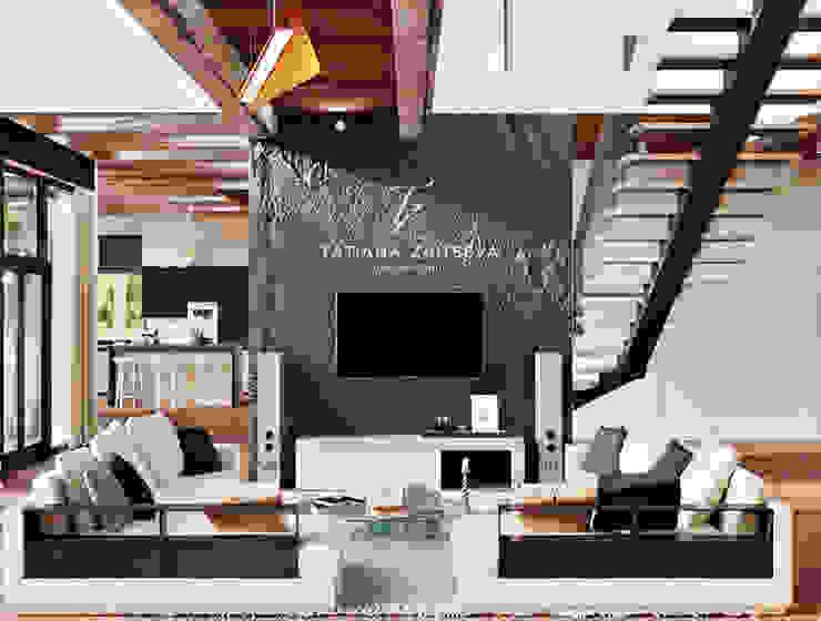 DESIGNE DOMU - WNĘTRZE W STYLU EKO Nowoczesny salon od Design studio TZinterior group Nowoczesny Drewno O efekcie drewna