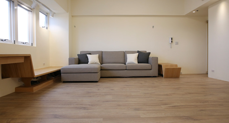 休憩平台 现代客厅設計點子、靈感 & 圖片 根據 王采元工作室 現代風