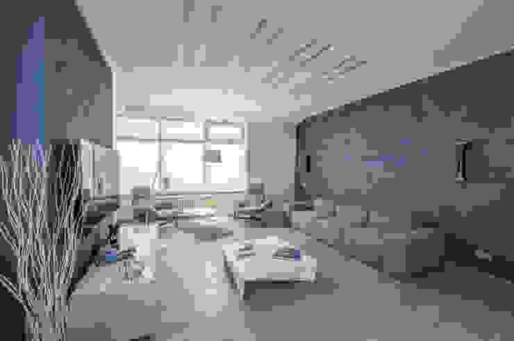 Irina Derbeneva Salones de estilo minimalista Azul