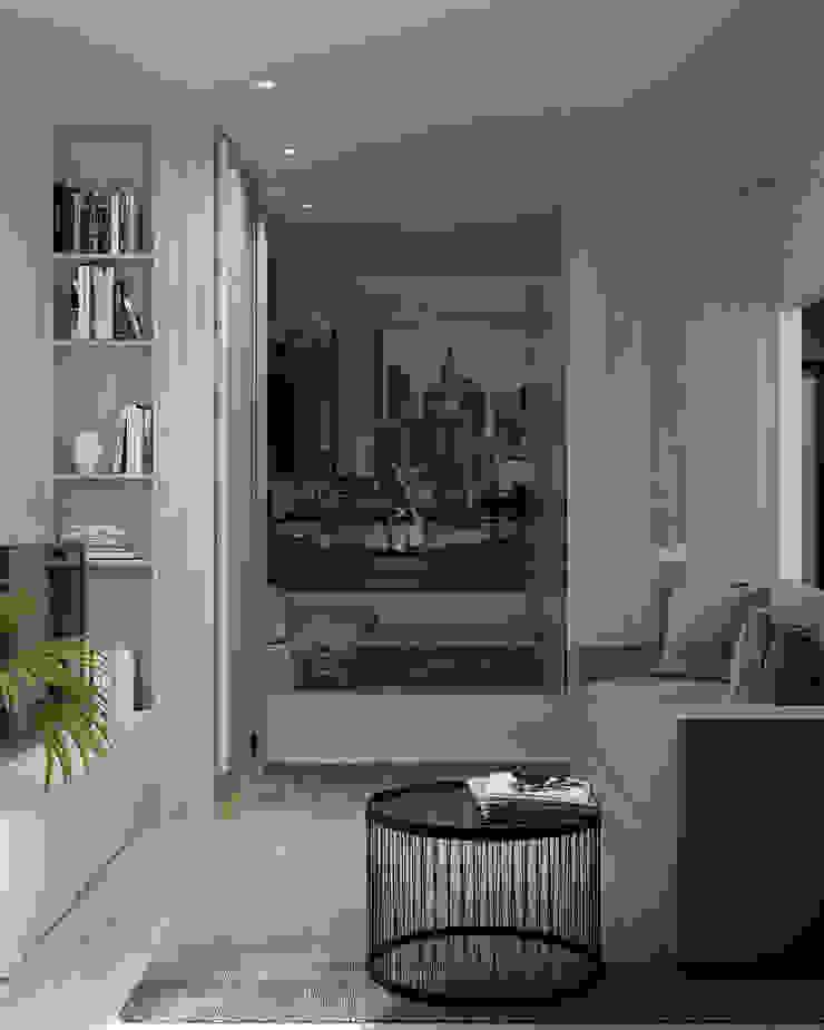 Appartement/Saint-Pétersbourg, Russie, 2018 Salon moderne par Tatiana Sukhova Moderne