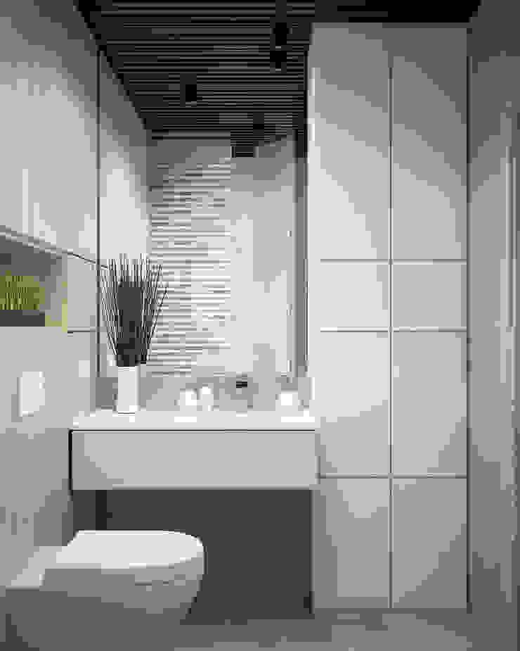 Appartement/Saint-Pétersbourg, Russie, 2018 Salle de bain moderne par Tatiana Sukhova Moderne
