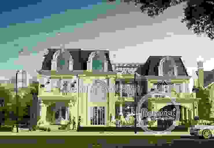 Phối cảnh mẫu thiết kế dinh thự - lâu đài 2 tầng Cổ điển châu Âu (CĐT: Ông Tuân - Quảng Bình) BT14521 bởi Công Ty CP Kiến Trúc và Xây Dựng Betaviet
