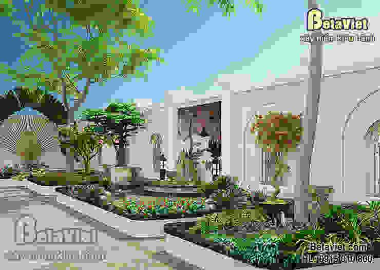 Phối cảnh sân vườn mẫu thiết kế lâu đài - dinh thự 3 tầng Hiện đại đẹp (CĐT: Bà Mai - Vĩnh Phúc) BT15008 bởi Công Ty CP Kiến Trúc và Xây Dựng Betaviet