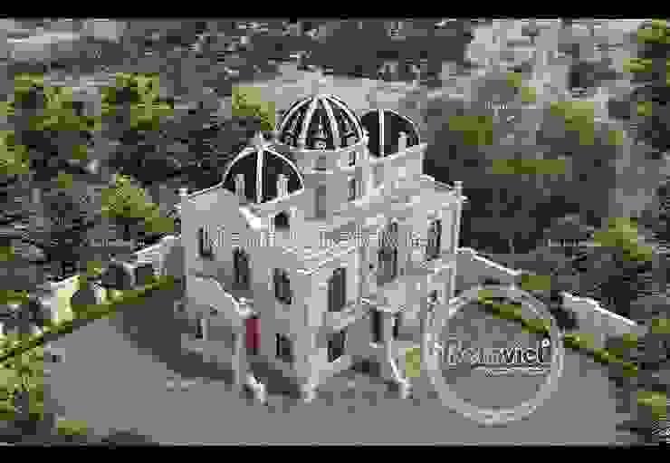 Phối cảnh thiết kế biệt thự 3 tầng Cổ điển Pháp (CĐT: Ông Hữu - Vĩnh Phúc) BT16012 bởi Công Ty CP Kiến Trúc và Xây Dựng Betaviet