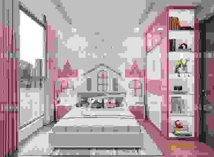 Thiết kế nội thất căn hộ Vinhomes Central Park Tân Cảng Phòng trẻ em phong cách hiện đại bởi ICON INTERIOR Hiện đại
