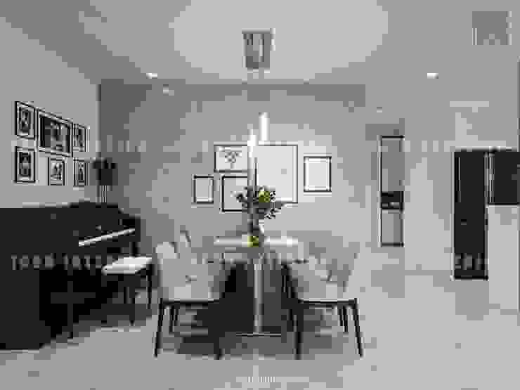 Thiết kế nội thất căn hộ Vinhomes Central Park Tân Cảng Phòng ăn phong cách hiện đại bởi ICON INTERIOR Hiện đại