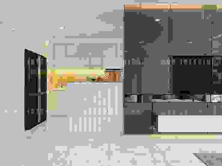 Thiết kế nội thất căn hộ Vinhomes Central Park Tân Cảng Nhà bếp phong cách hiện đại bởi ICON INTERIOR Hiện đại