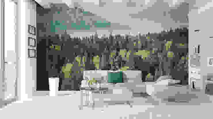 Fototapeta las widziany z lotu ptaka: styl , w kategorii Ściany i podłogi zaprojektowany przez REDRO,