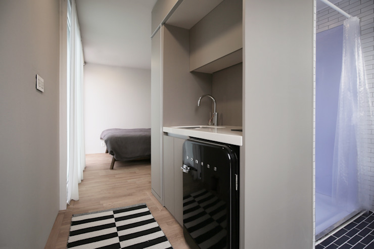 마룸 6평 (micro compact house) 모던스타일 주방 by 마룸 모던