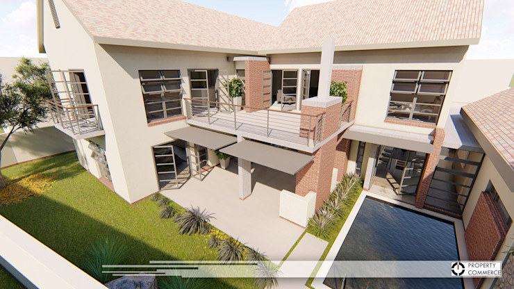 House Dichaba Modern houses by Property Commerce Architects Modern