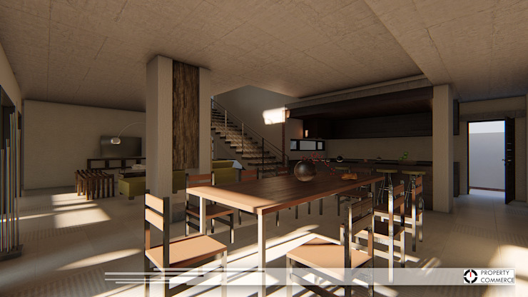 House Dichaba Modern dining room by Property Commerce Architects Modern