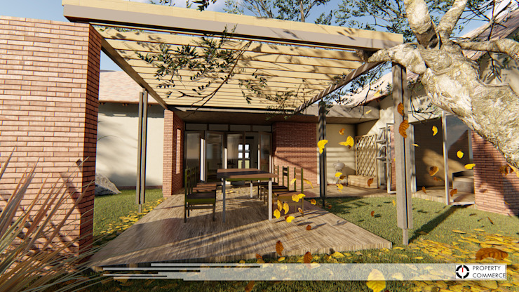 House Snyman:  Patios by Property Commerce Architects,
