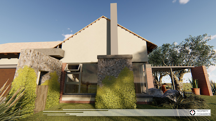 House Snyman Country style house by Property Commerce Architects Country